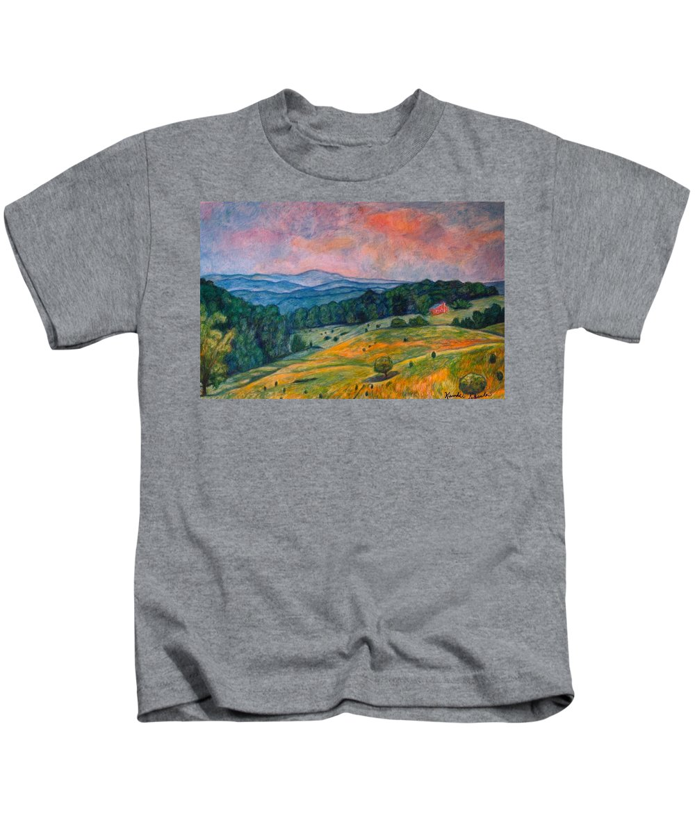 Ingles Mountain Kids T-Shirt featuring the painting Ingles Mountain by Kendall Kessler