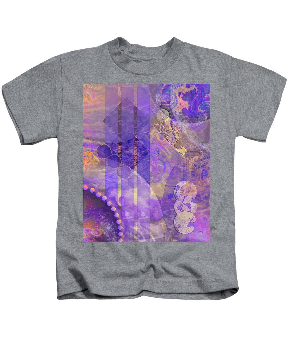 Lunar Impressions 2 Kids T-Shirt featuring the digital art Lunar Impressions 2 by John Robert Beck
