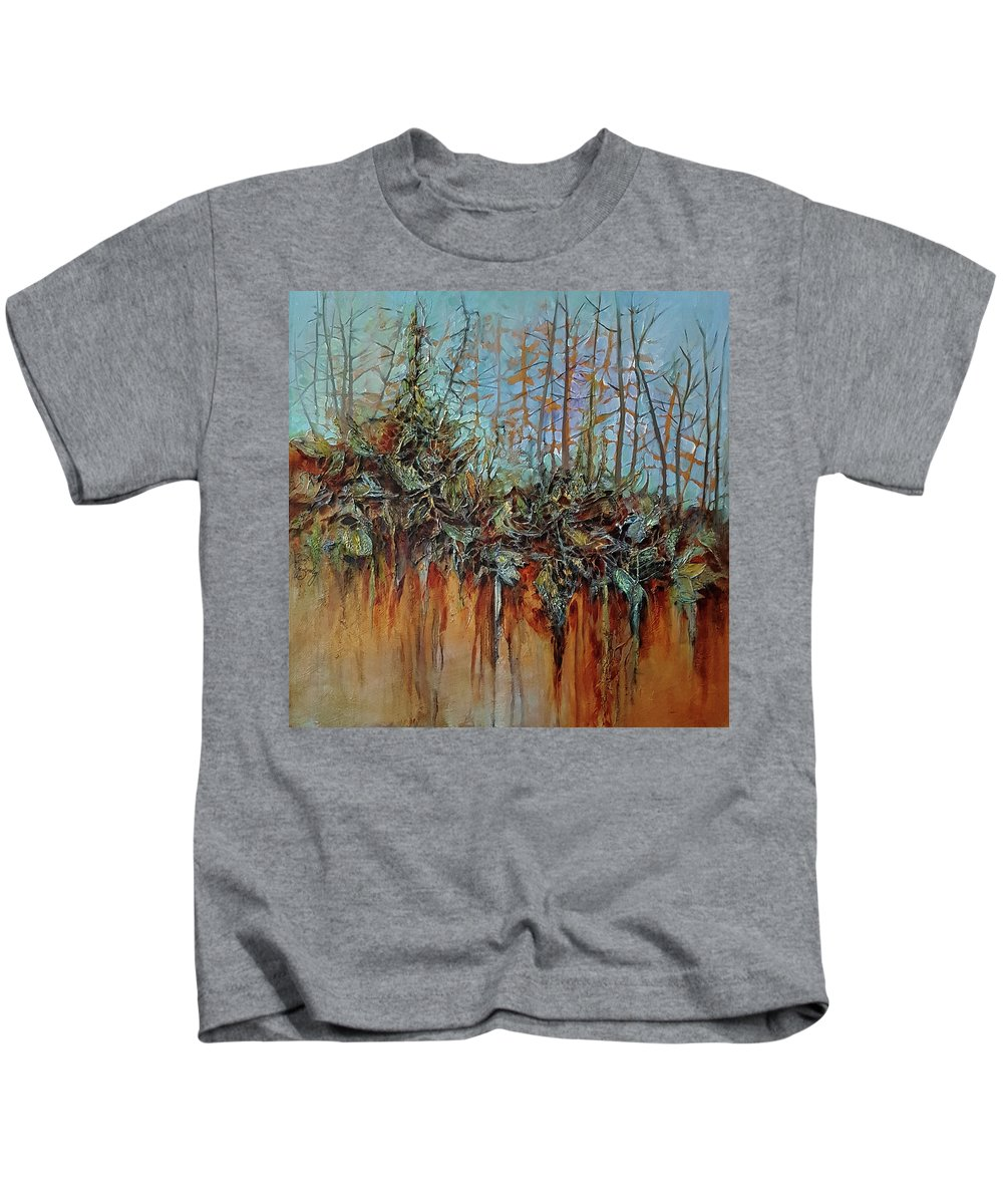 Forest Kids T-Shirt featuring the painting Natural Glow by Jo Smoley