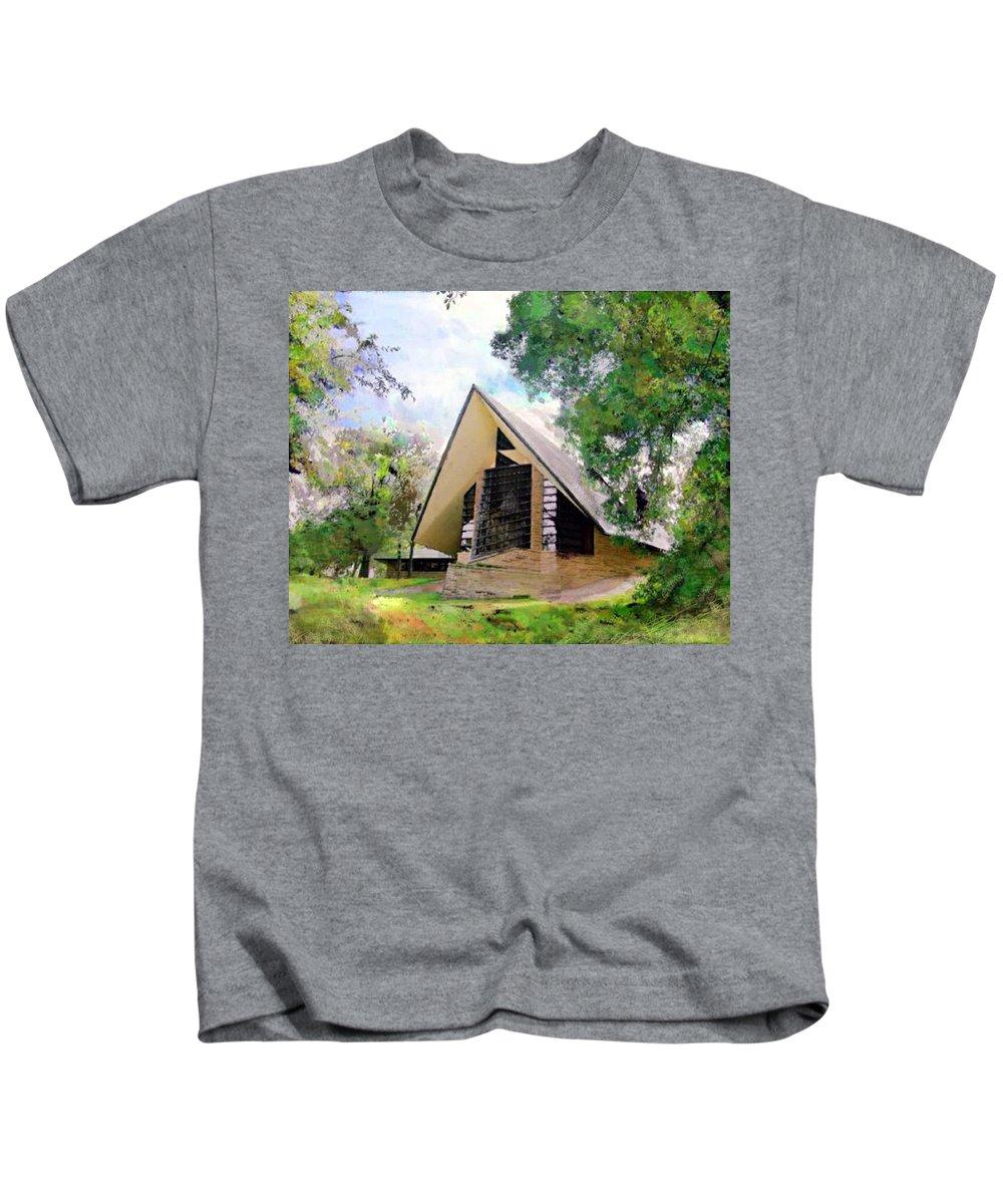 Praying Hands Kids T-Shirt featuring the digital art Praying Hands by John Robert Beck
