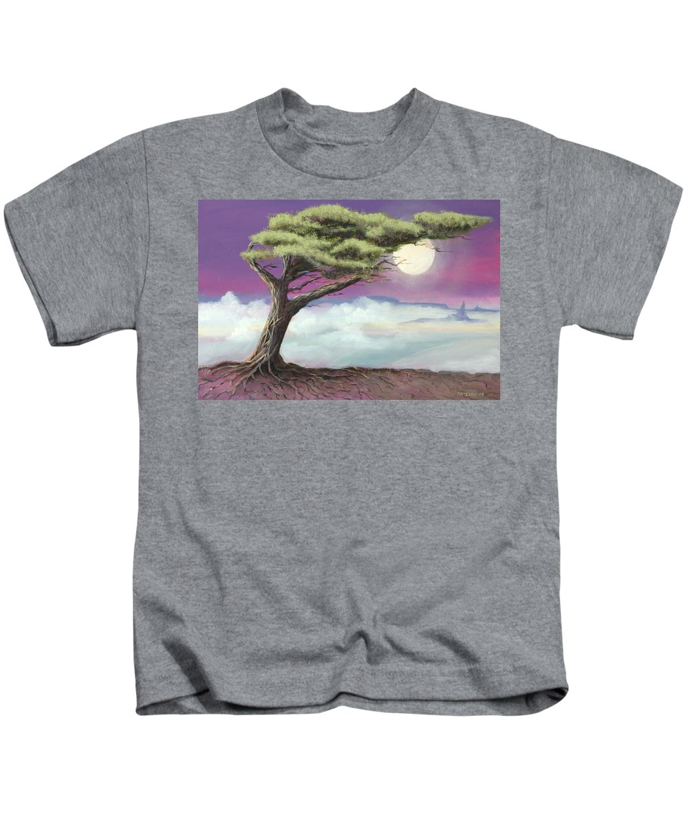 Landscape Kids T-Shirt featuring the painting Sentinel of the Canyon by Jerry McElroy