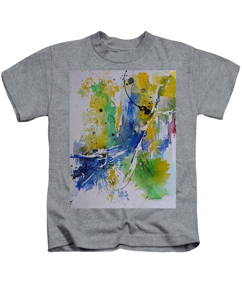 Abstract Kids T-Shirt featuring the painting Soul energy by Pol Ledent