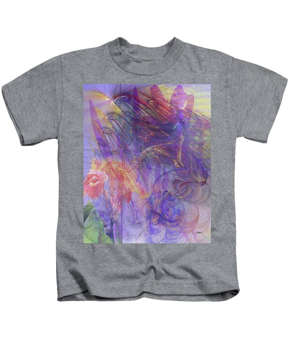 Summer Awakes Kids T-Shirt featuring the digital art Summer Awakes by John Robert Beck