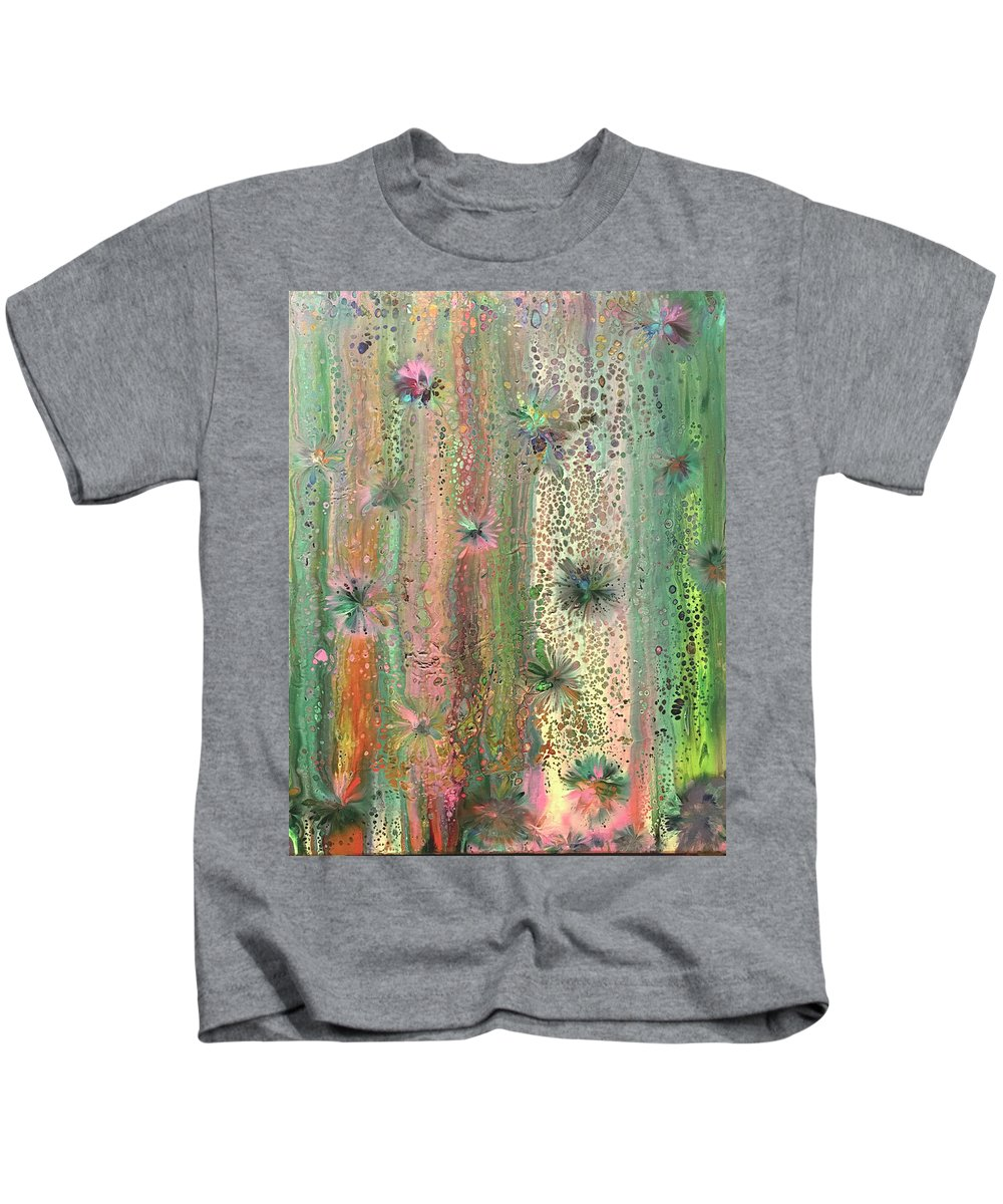 Abstract Kids T-Shirt featuring the painting The Source of Magic by Roz Eve