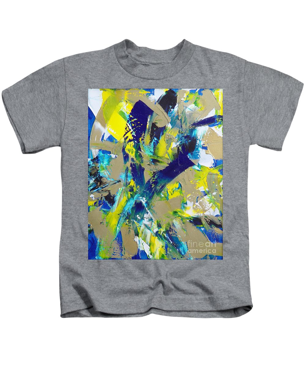 Abstract Kids T-Shirt featuring the painting Transitions IX by Dean Triolo