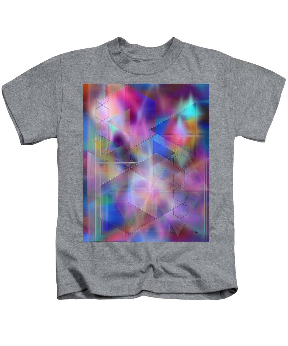 Usonian Dreams Kids T-Shirt featuring the digital art Usonian Dreams by John Robert Beck