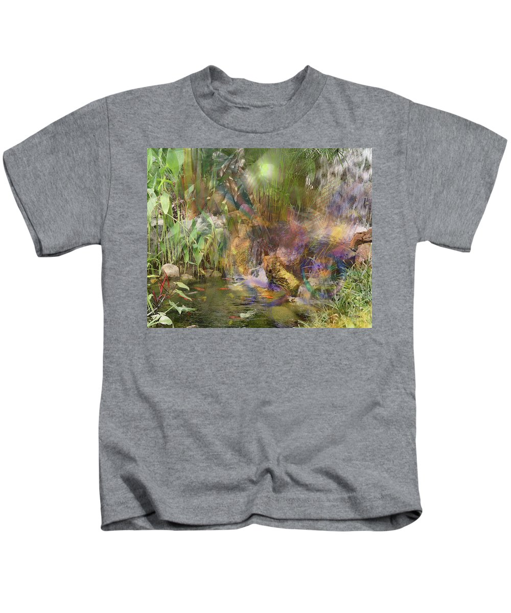 Whispering Waters Kids T-Shirt featuring the digital art Whispering Waters by John Robert Beck