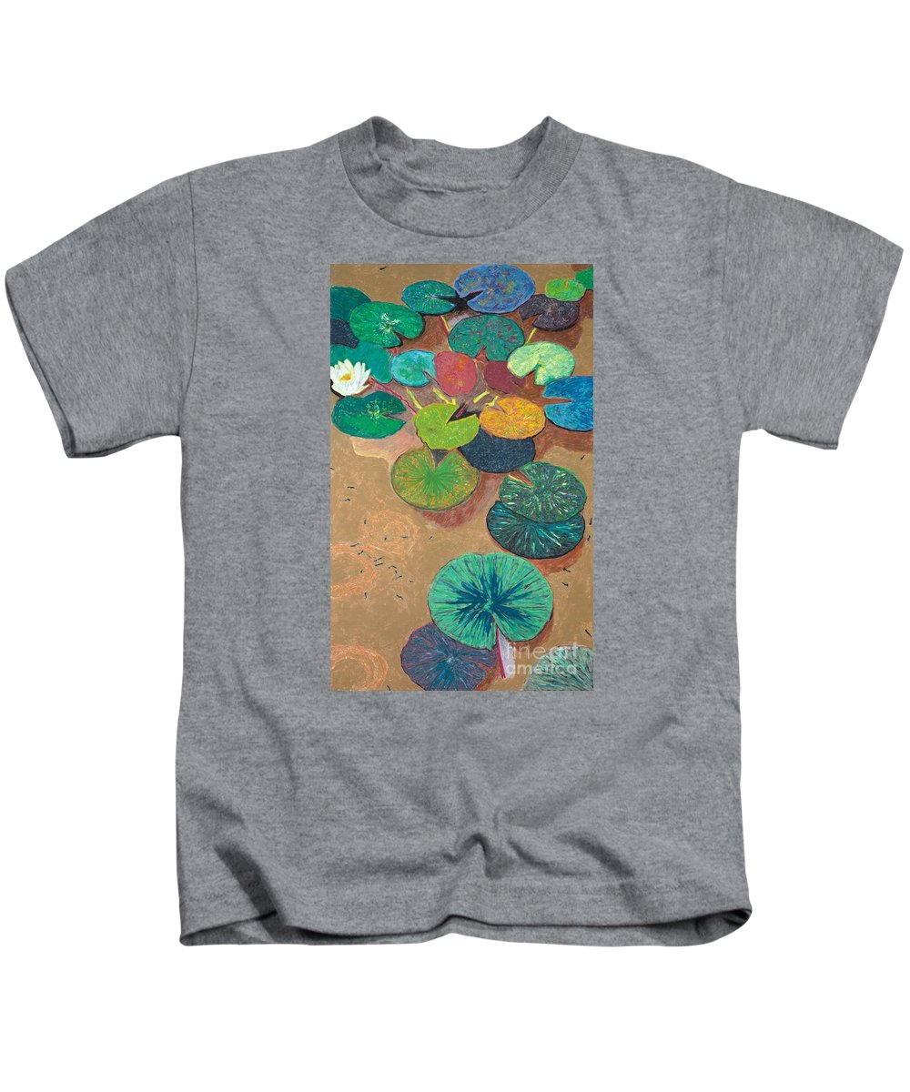Landscape Kids T-Shirt featuring the painting White Lily by Allan P Friedlander