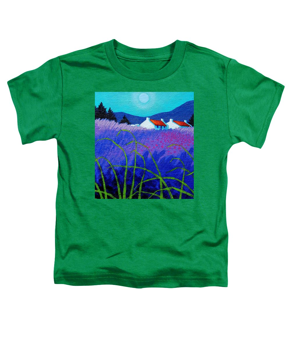 Acrylic Toddler T-Shirt featuring the painting Lavender Field by John Nolan