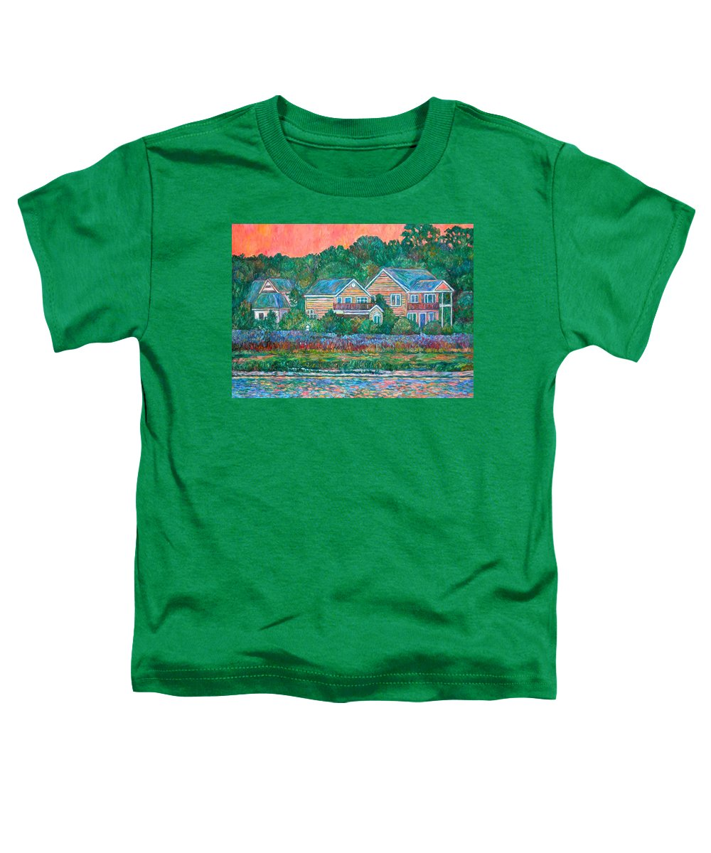 Landscape Toddler T-Shirt featuring the painting Across The Marsh At Pawleys Island    by Kendall Kessler
