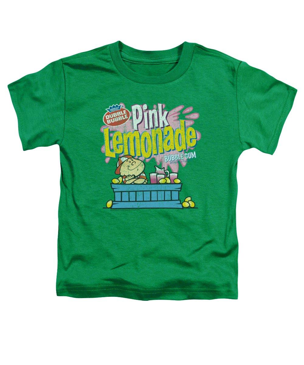 Dubble Bubble Toddler T-Shirt featuring the digital art Dubble Bubble - Pink Lemonade by Brand A