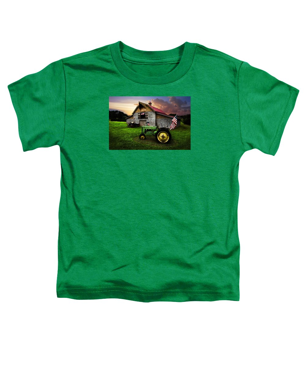 American Toddler T-Shirt featuring the photograph God Bless America by Debra and Dave Vanderlaan