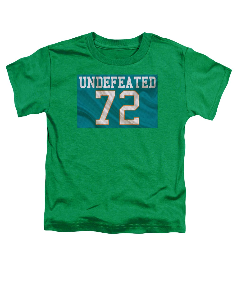 Dolphins Toddler T-Shirt featuring the photograph Miami Dolphins Undefeated Season by Joe Hamilton