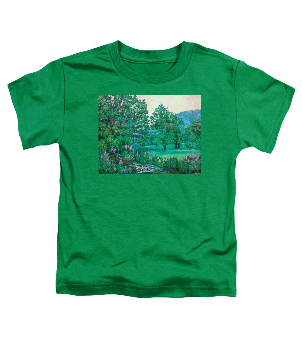 Landscape Toddler T-Shirt featuring the painting Park Road In Radford by Kendall Kessler