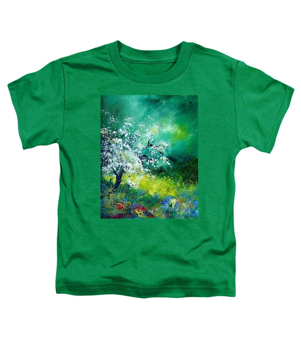 Flowers Toddler T-Shirt featuring the painting Spring by Pol Ledent