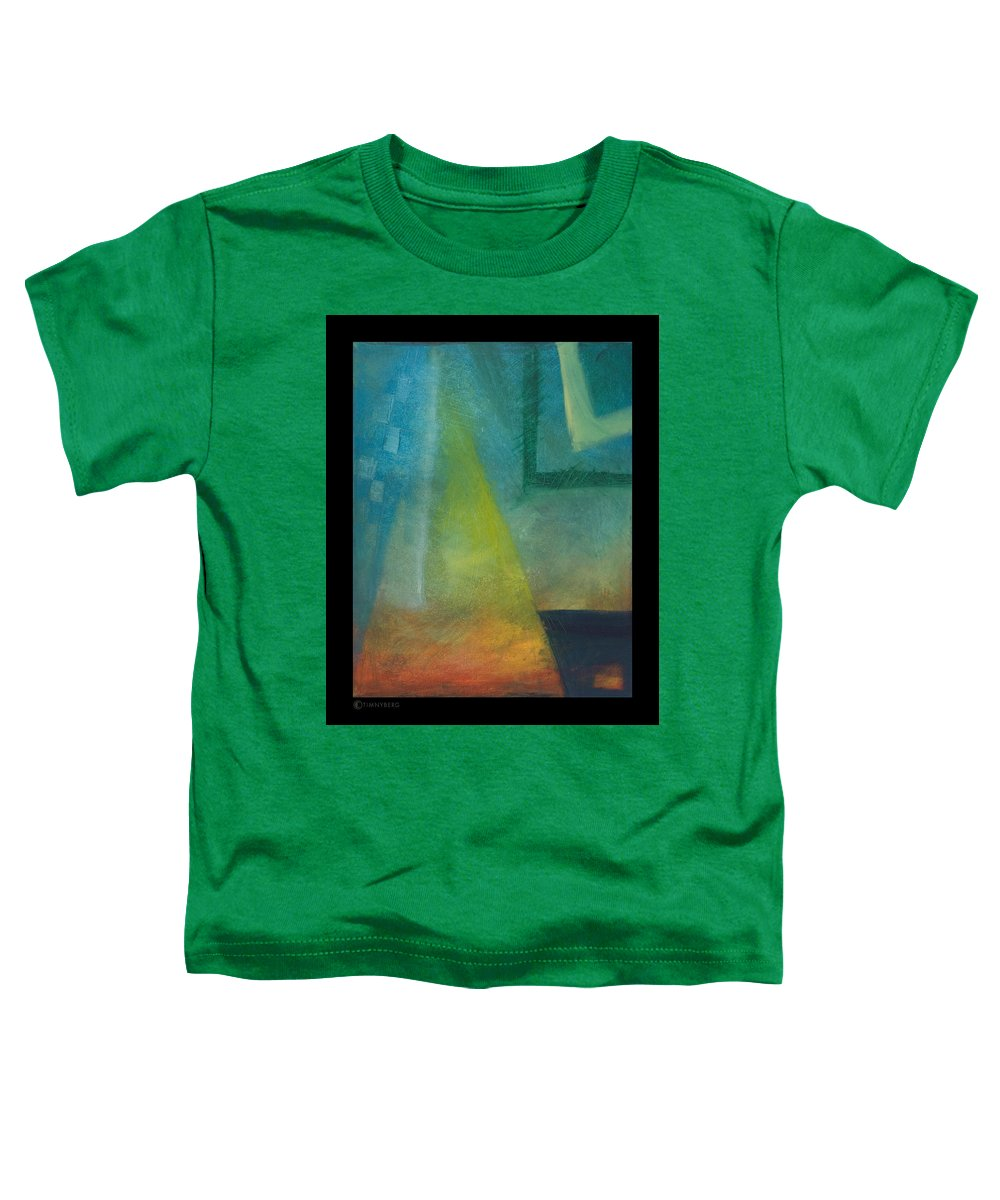 Sunset Toddler T-Shirt featuring the painting Sunset Sail by Tim Nyberg