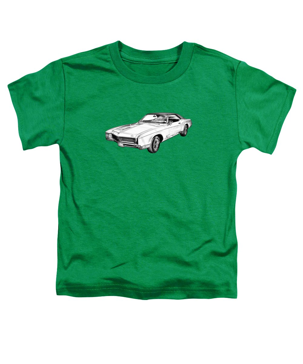 1967 Buick Riviera Toddler T-Shirt featuring the photograph 1967 Buick Riviera Drawing by Keith Webber Jr
