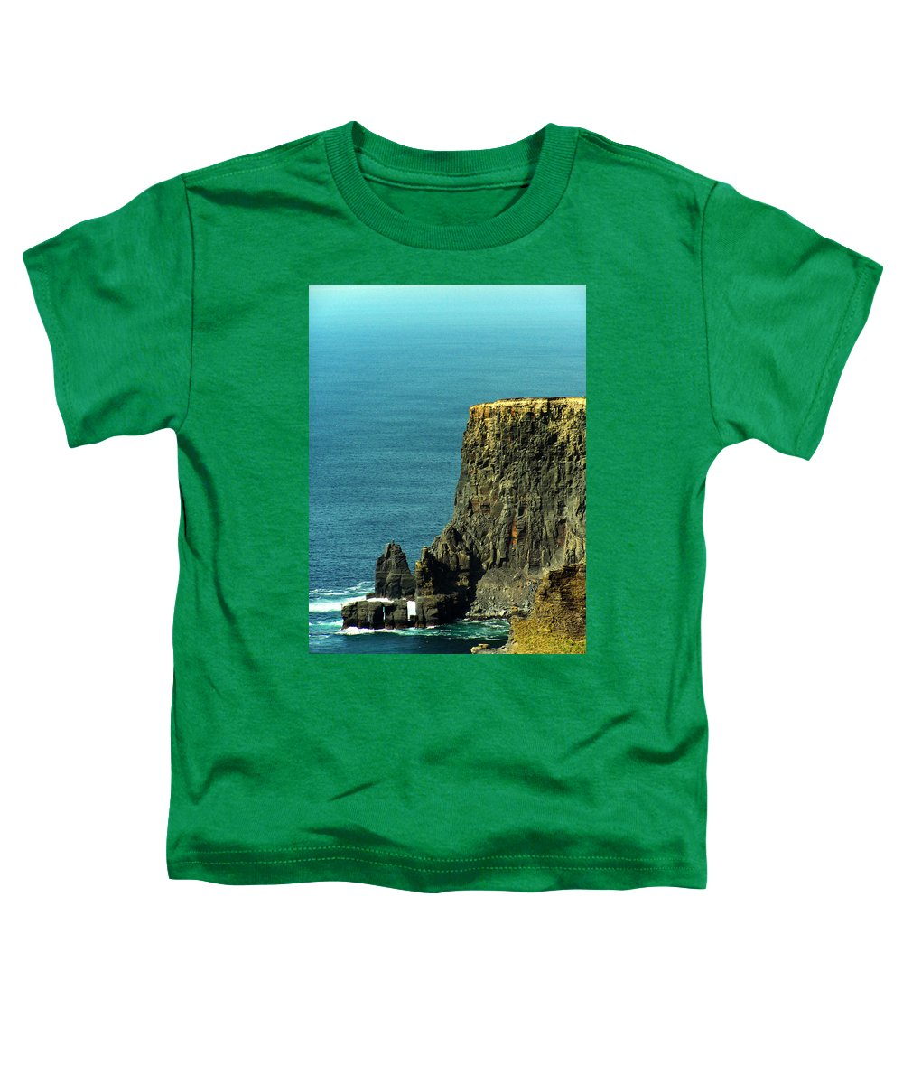 Irish Toddler T-Shirt featuring the photograph Aill Na Searrach Cliffs Of Moher Ireland by Teresa Mucha