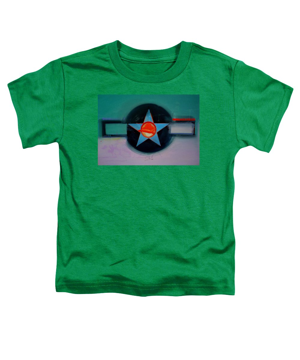 Star Toddler T-Shirt featuring the painting American Landscape by Charles Stuart