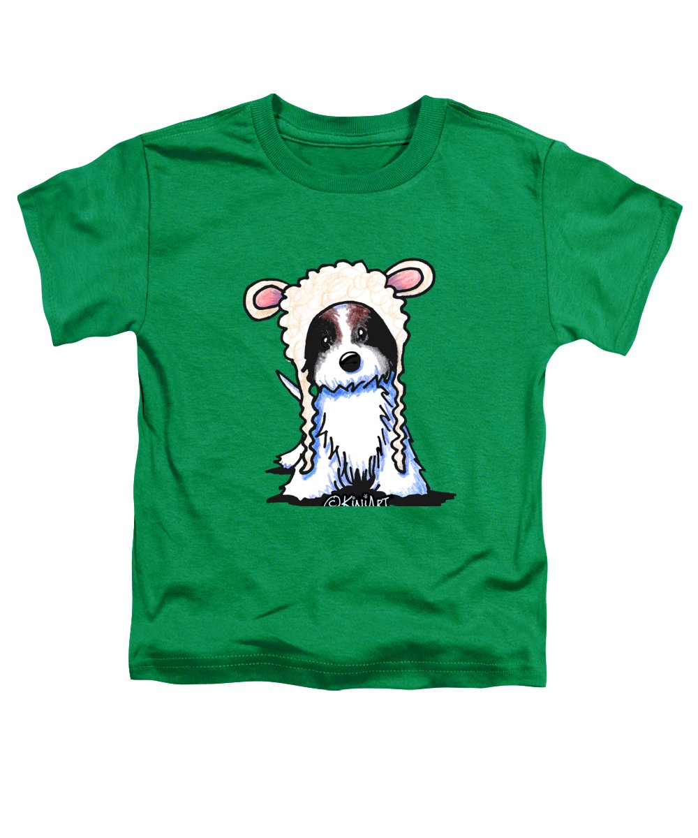 Coton Toddler T-Shirt featuring the drawing Coton De Tulear by Kim Niles