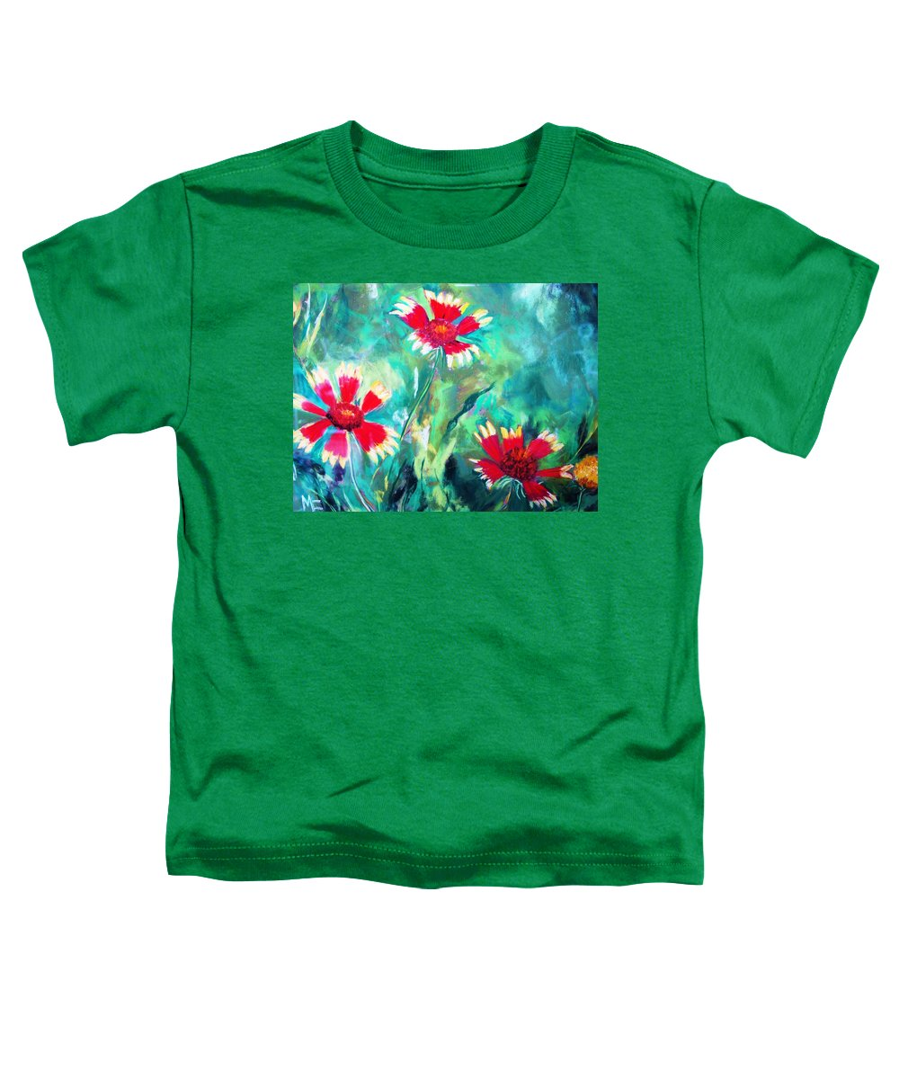 Flowers Toddler T-Shirt featuring the painting East Texas Wild Flowers by Melinda Etzold