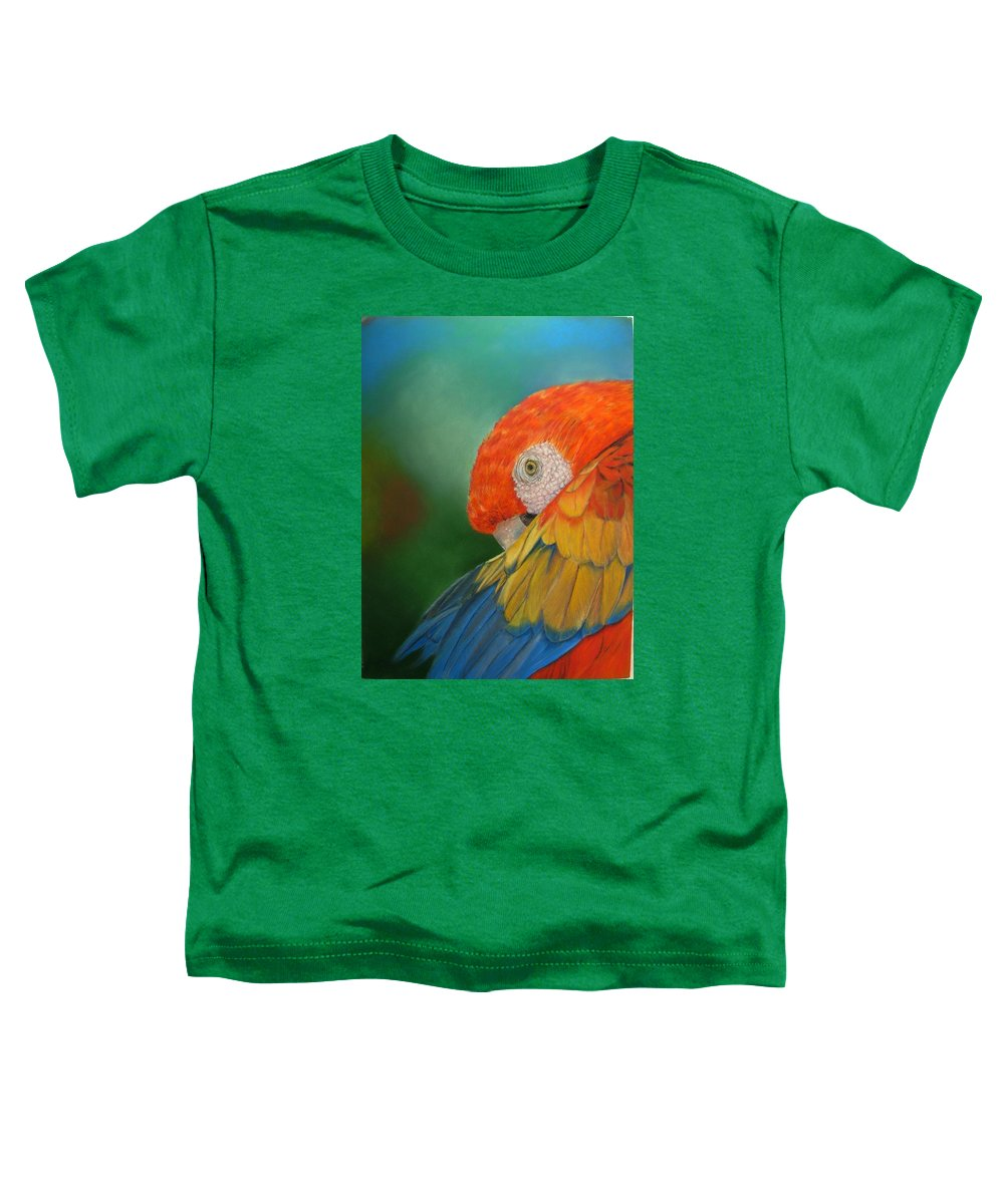 Bird Toddler T-Shirt featuring the painting Escondida by Ceci Watson