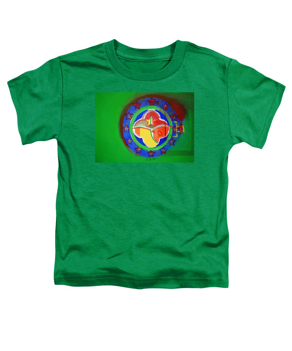 Symbol Toddler T-Shirt featuring the painting Euromarine by Charles Stuart