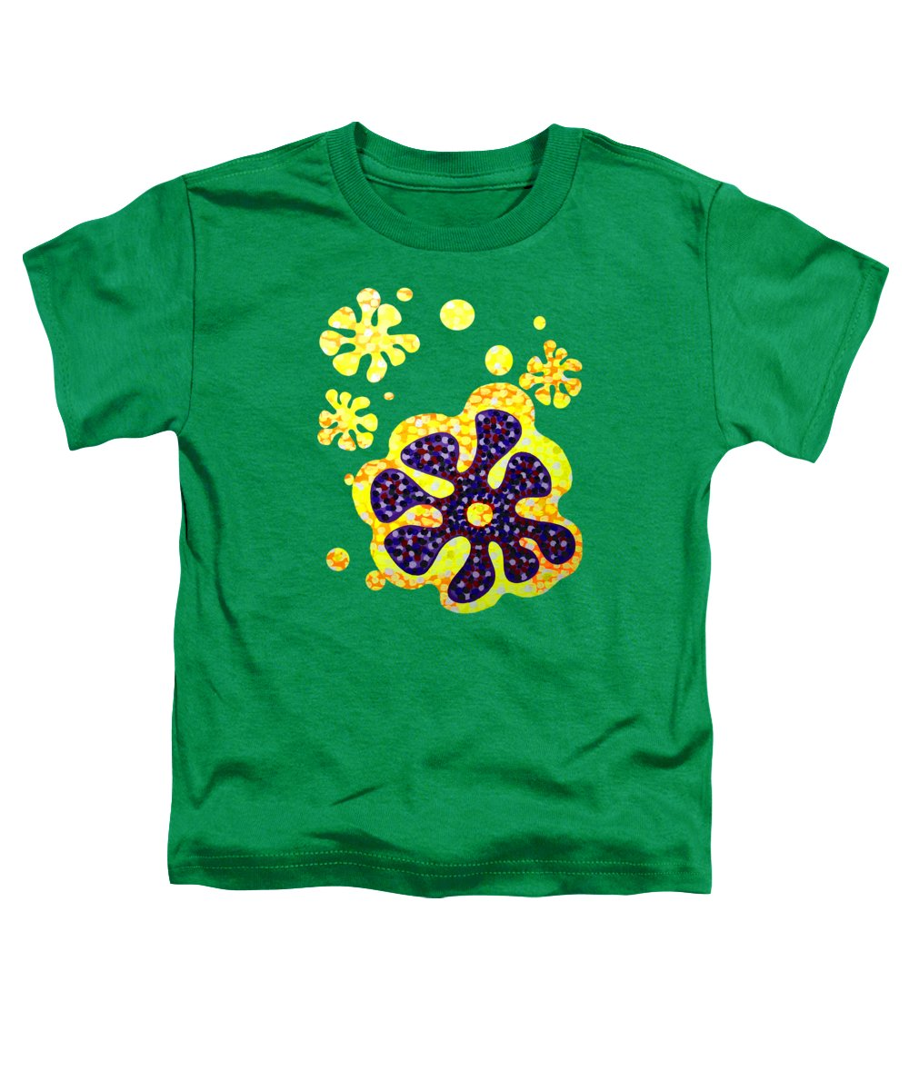 Acrylic Toddler T-Shirt featuring the painting Flower For Rafa by Alan Hogan