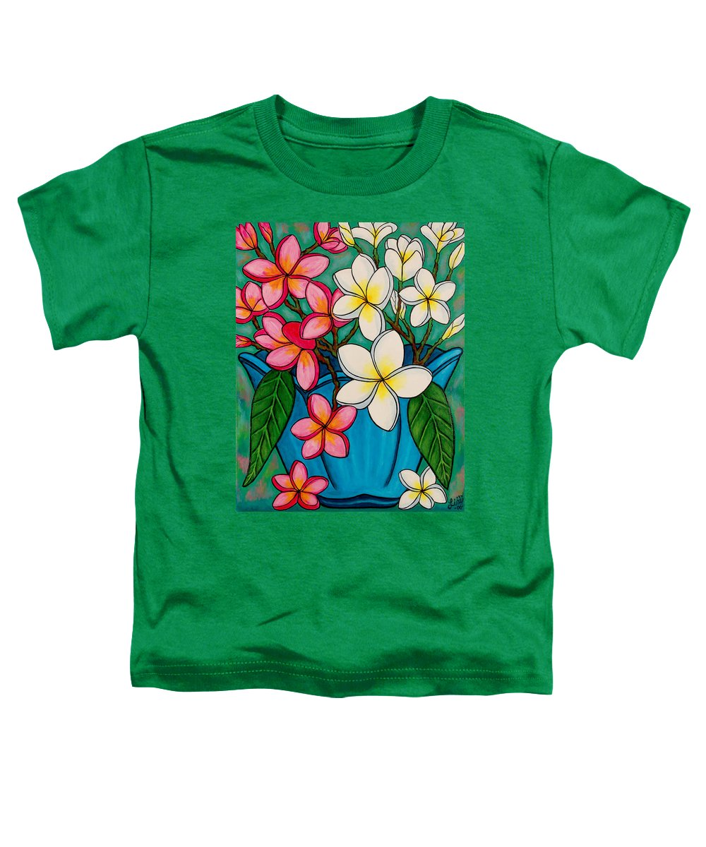 Frangipani Toddler T-Shirt featuring the painting Frangipani Sawadee by Lisa Lorenz