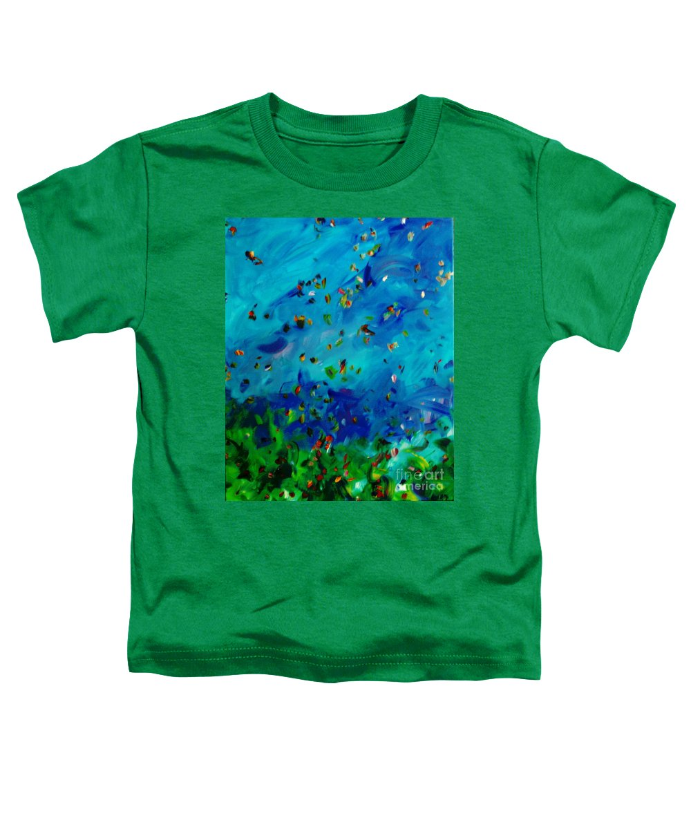 Landscape Toddler T-Shirt featuring the painting Freelancing by Reina Resto