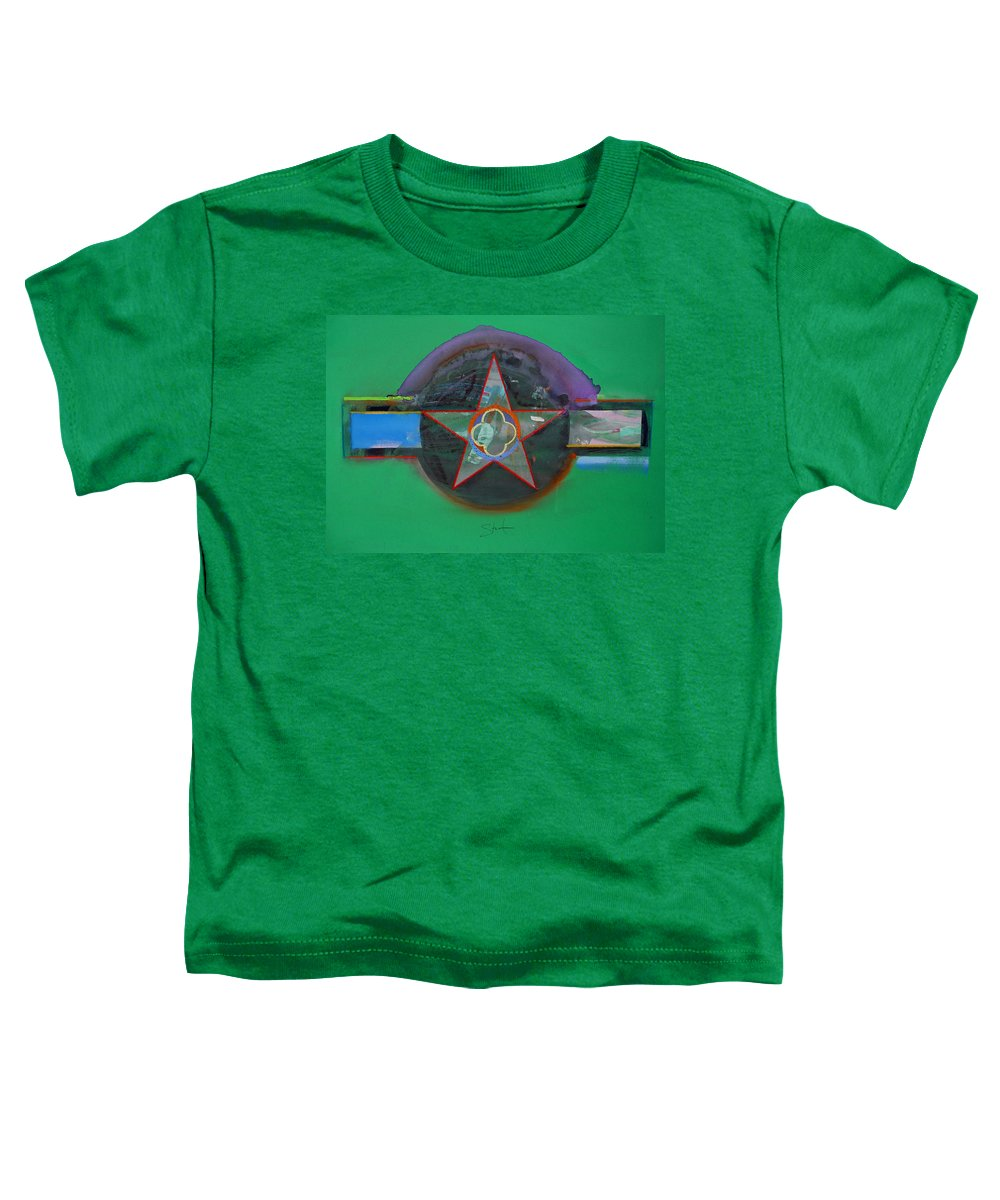 Star Toddler T-Shirt featuring the painting Green And Violet by Charles Stuart