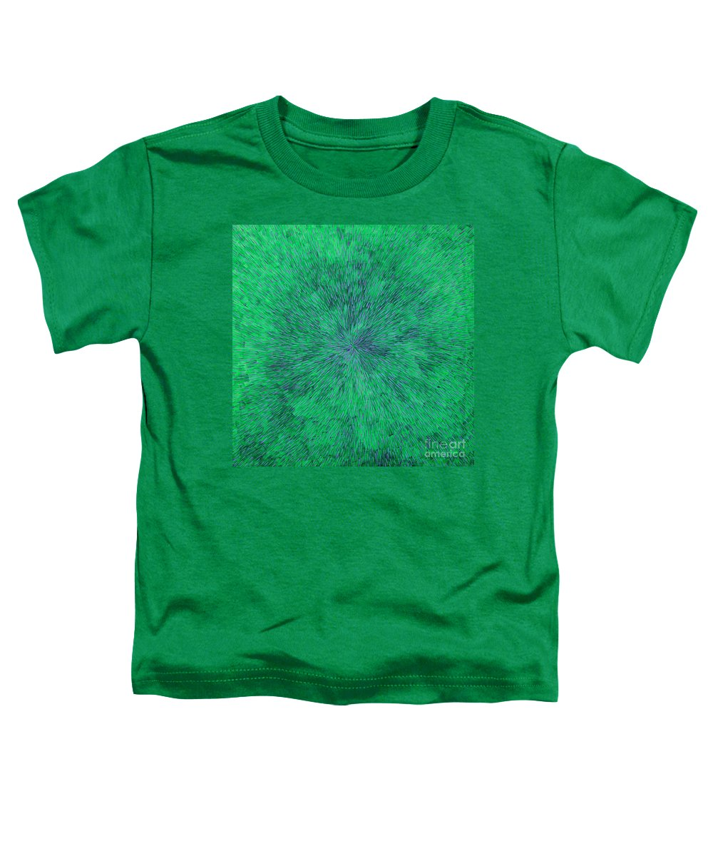 Abstract Toddler T-Shirt featuring the painting Green Radation With Violet by Dean Triolo