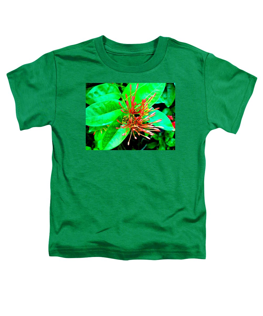 Flower Toddler T-Shirt featuring the photograph In My Garden by Ian MacDonald