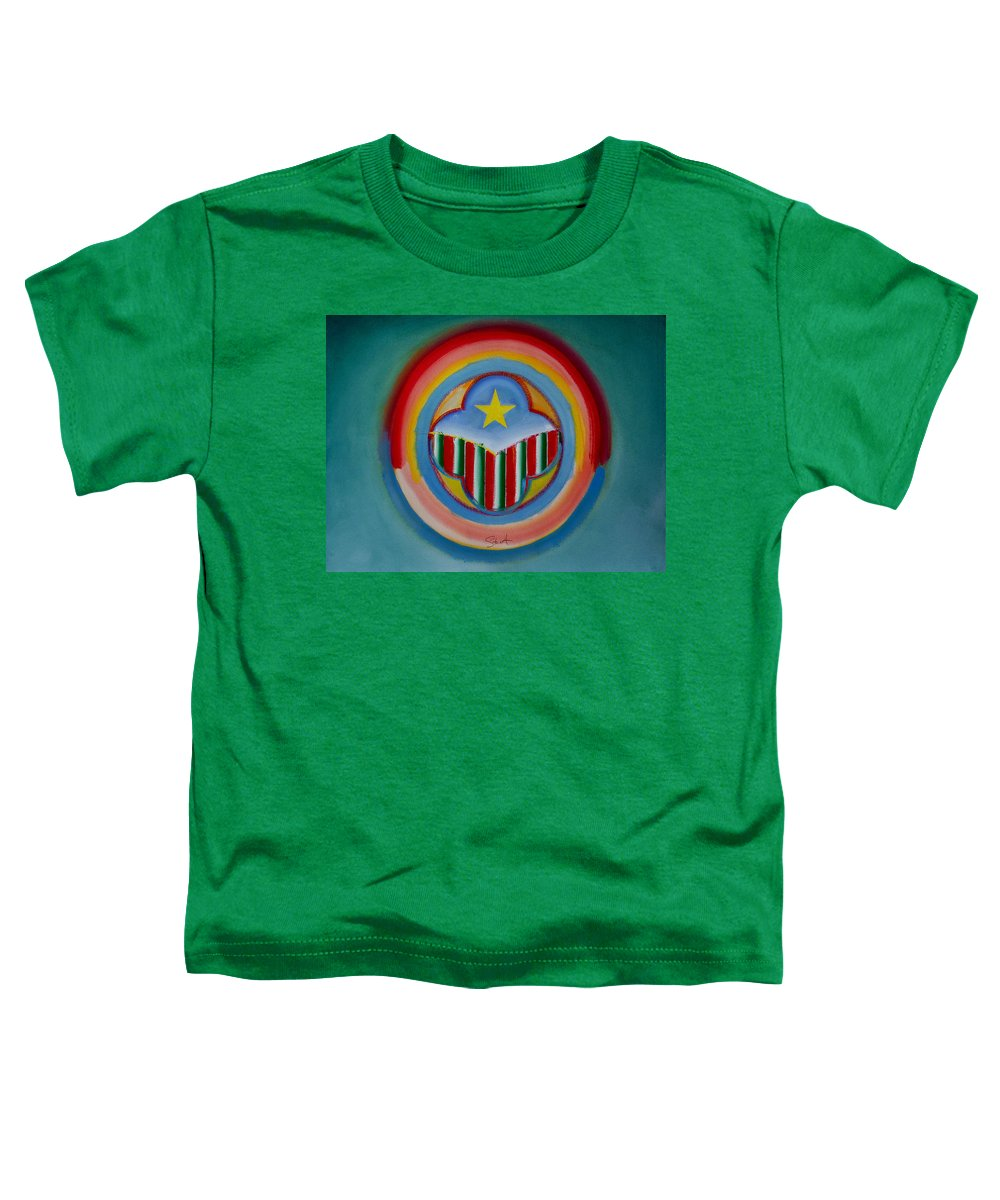 Button Toddler T-Shirt featuring the painting Italian American by Charles Stuart