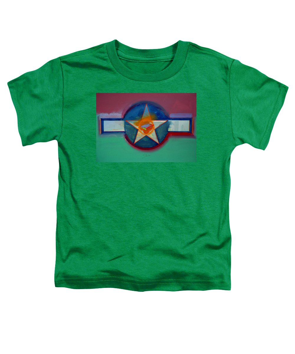 Star Toddler T-Shirt featuring the painting Landscape In The Balance by Charles Stuart