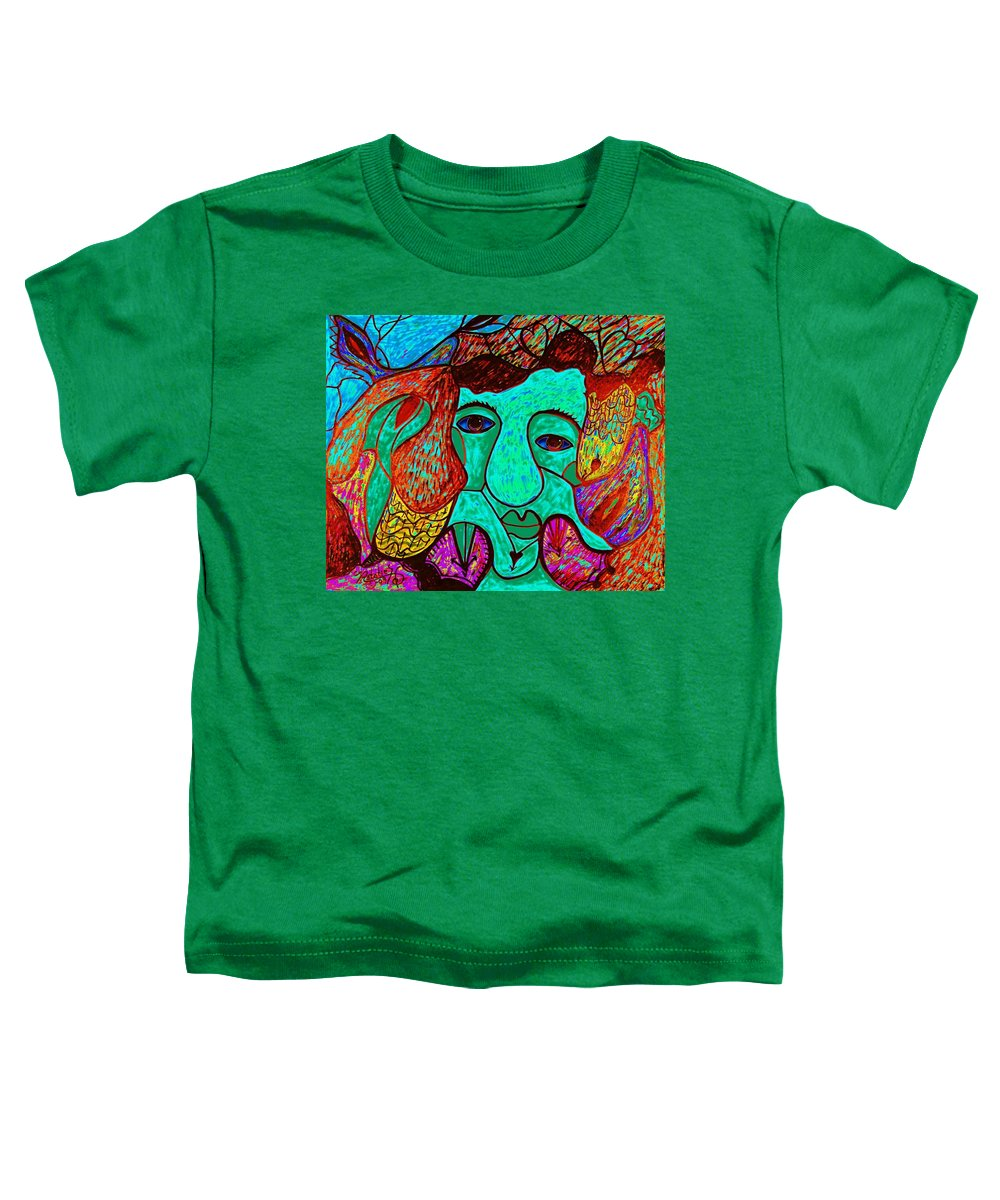 Man Toddler T-Shirt featuring the painting Looking For Love by Natalie Holland