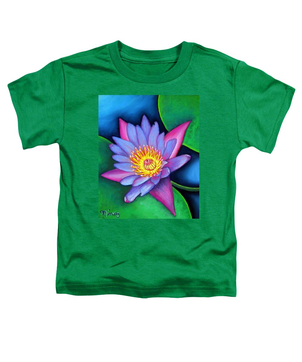 Flower Toddler T-Shirt featuring the painting Lotus Divine by Minaz Jantz