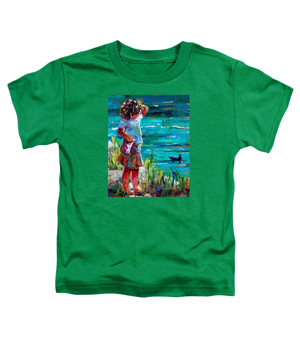 Children Toddler T-Shirt featuring the painting One Lucky Duck by Debra Hurd