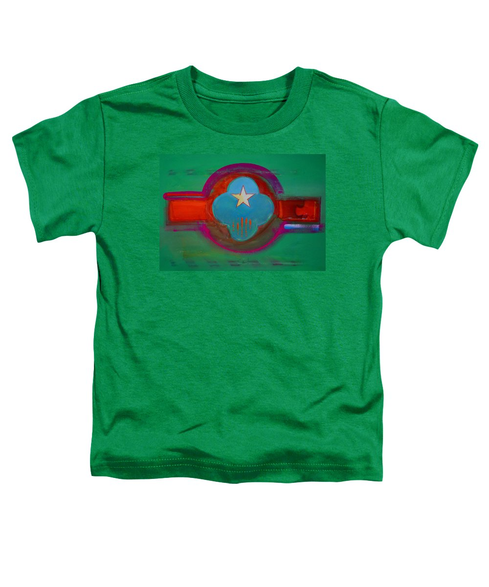 Star Toddler T-Shirt featuring the painting Spiritual Green by Charles Stuart