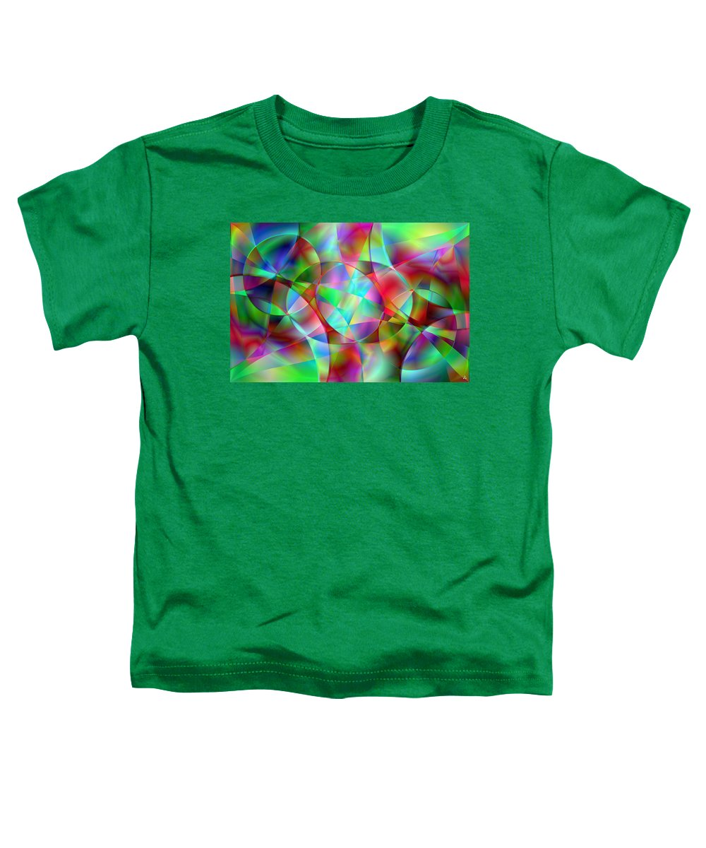 Colors Toddler T-Shirt featuring the digital art Vision 27 by Jacques Raffin