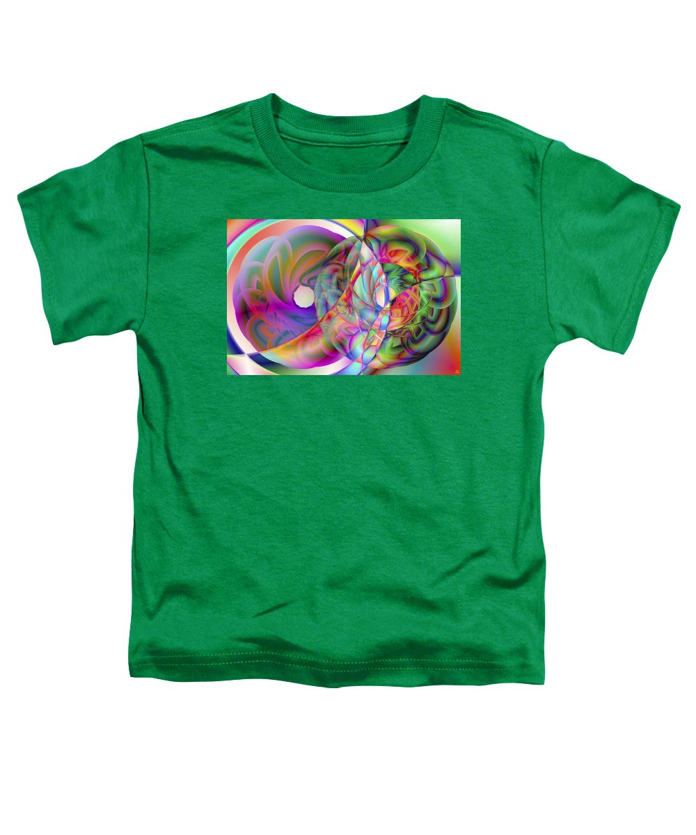 Crazy Toddler T-Shirt featuring the digital art Vision 41 by Jacques Raffin