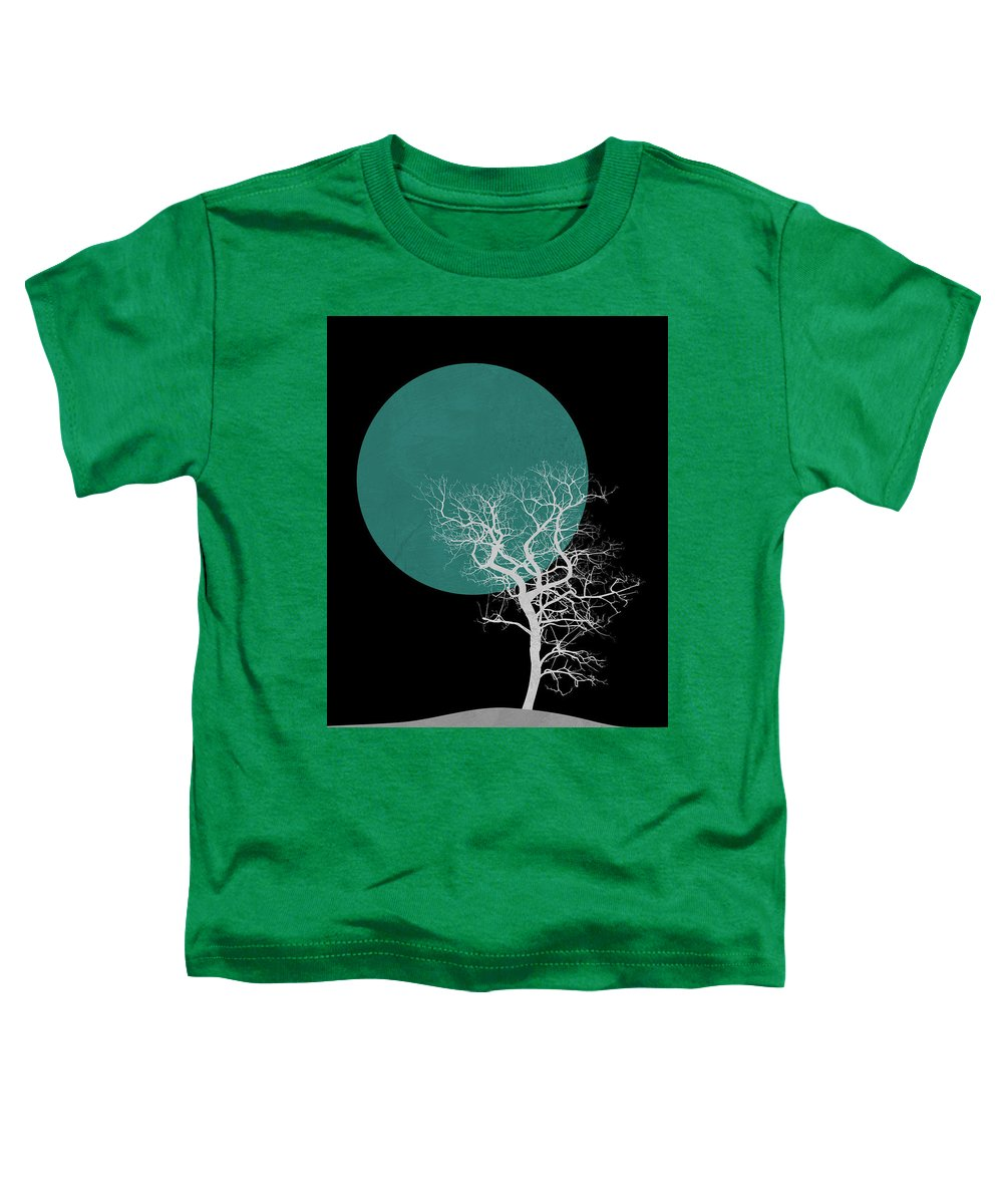 Tree Toddler T-Shirt featuring the mixed media White Tree And Big Moon by Naxart Studio