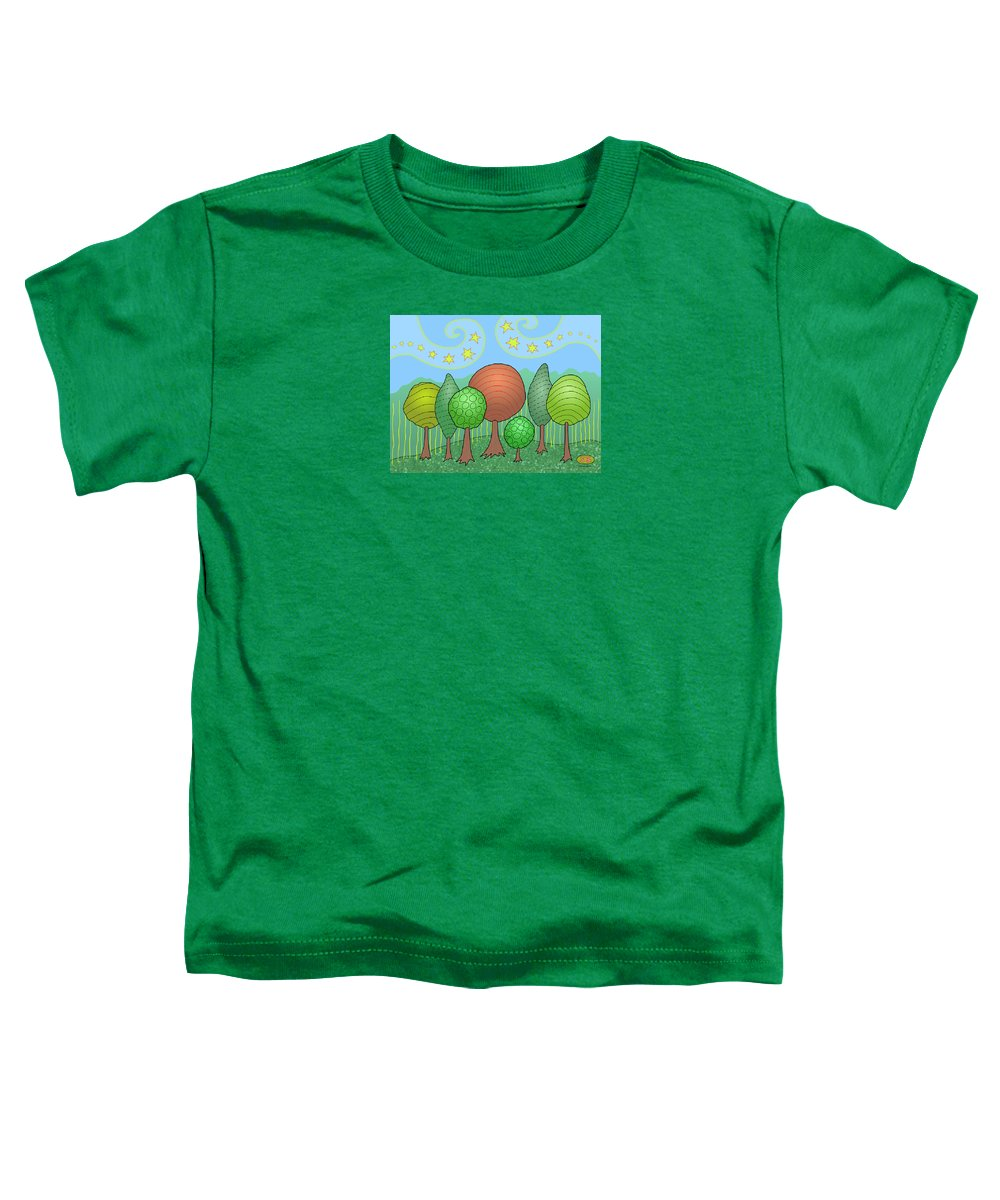Family Toddler T-Shirt featuring the digital art My Family by Susan Bird Artwork