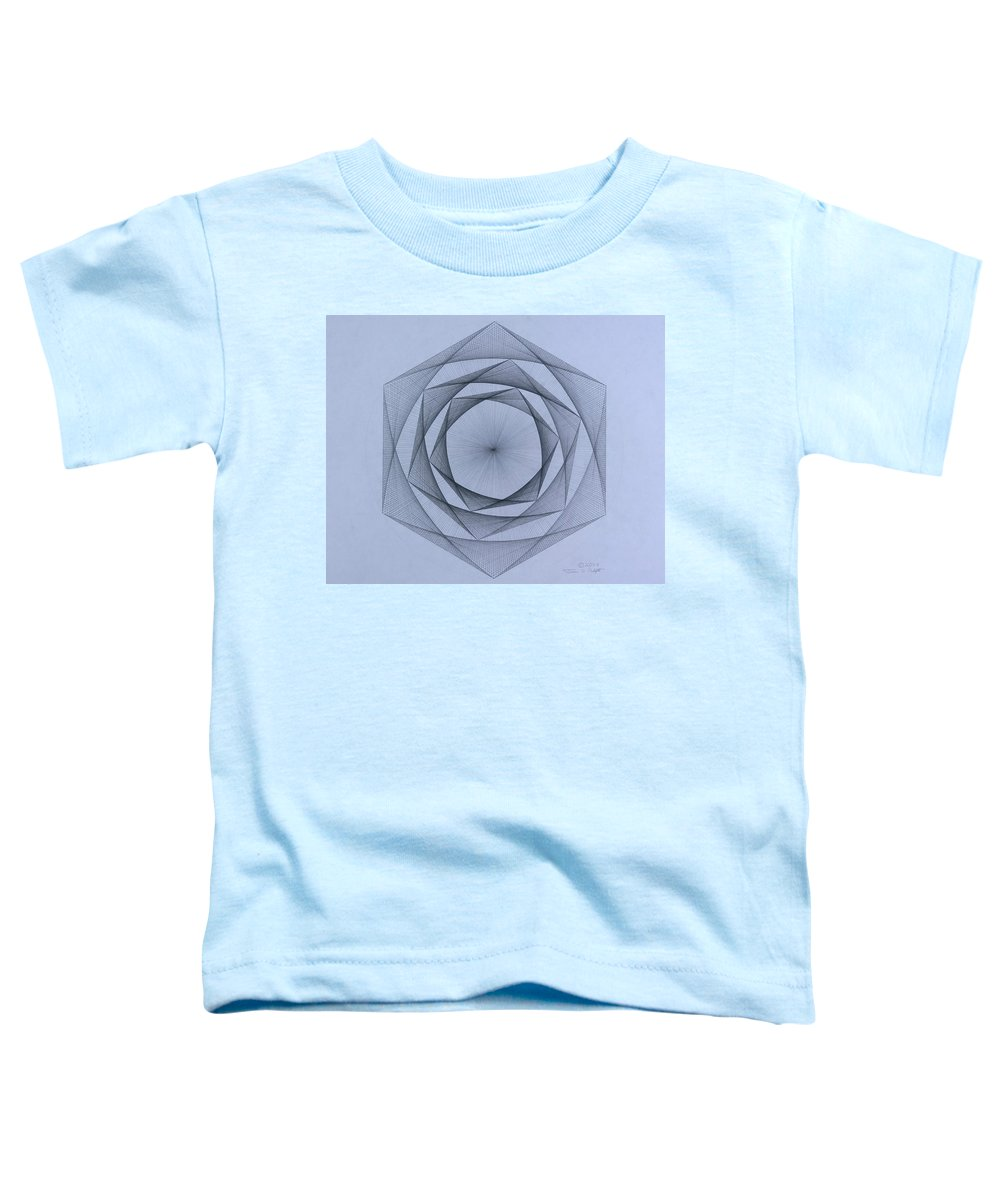Jason Padgett Toddler T-Shirt featuring the drawing  Energy Spiral by Jason Padgett