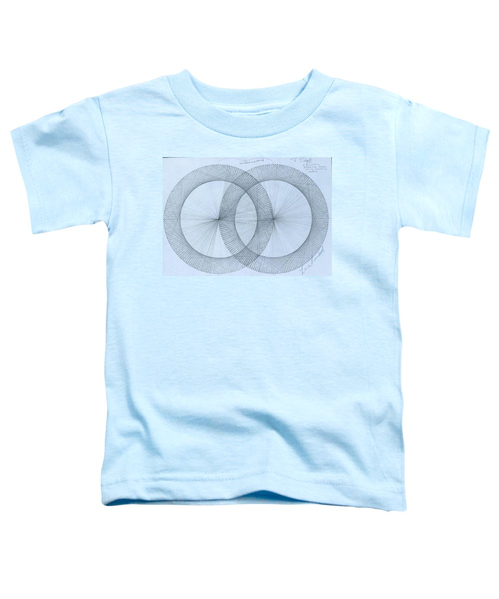 Fractal Toddler T-Shirt featuring the drawing Magnetism by Jason Padgett