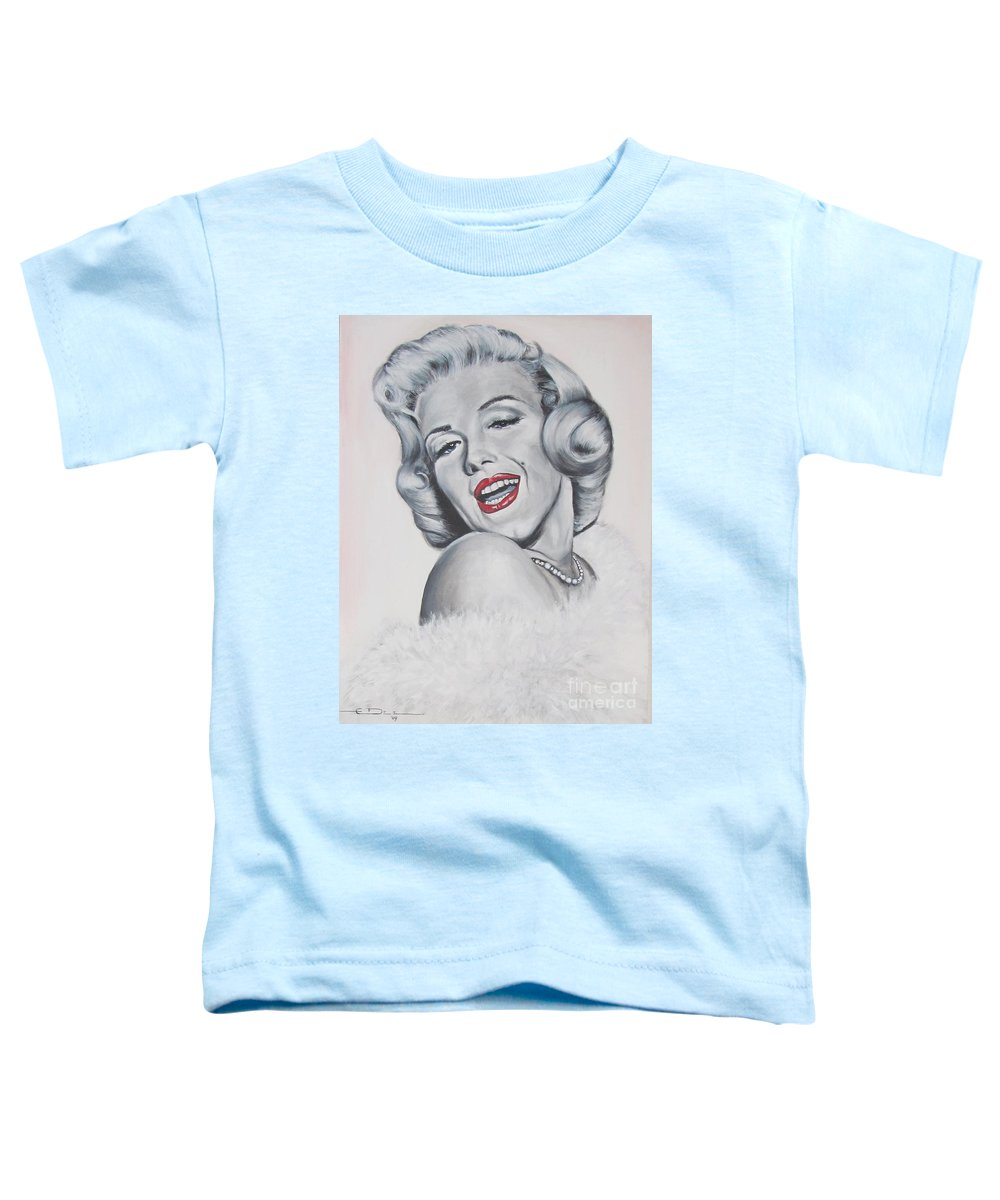 Marilyn Monroe Toddler T-Shirt featuring the painting Marilyn Monroe by Eric Dee
