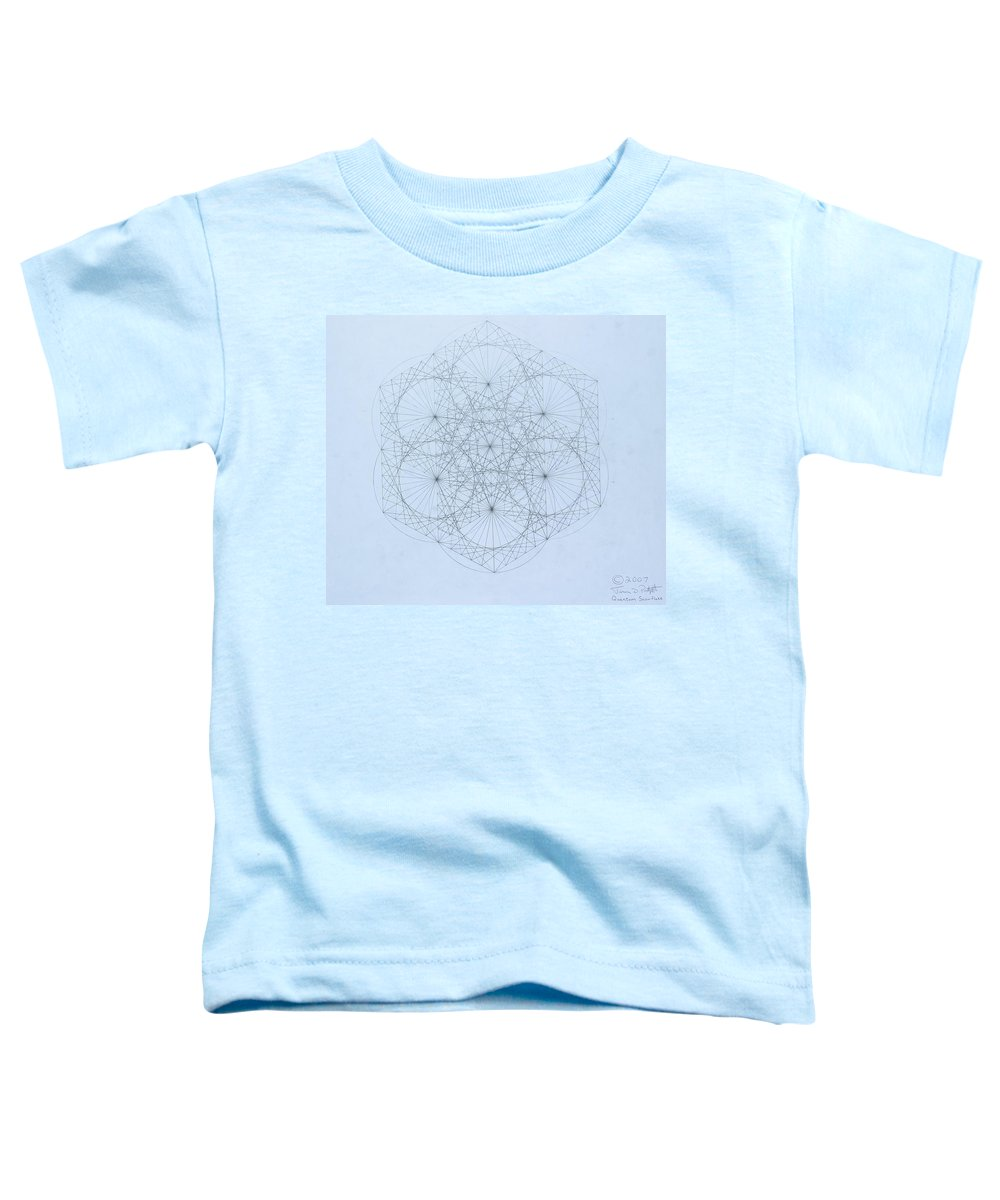 Jason Padgett Toddler T-Shirt featuring the drawing Quantum Snowflake by Jason Padgett