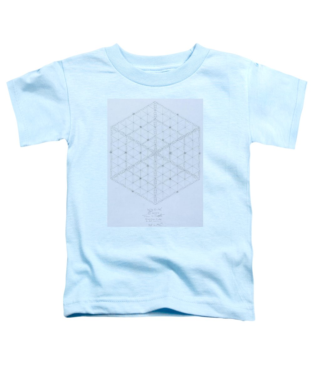 Energy Toddler T-Shirt featuring the drawing Why Energy Equals Mass Times The Speed Of Light Squared by Jason Padgett