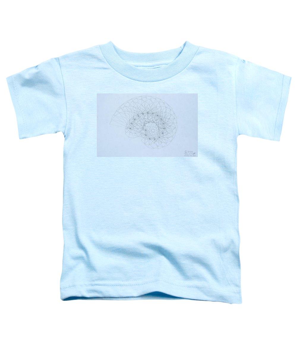 Jason Padgett Toddler T-Shirt featuring the drawing Quantum Nautilus by Jason Padgett