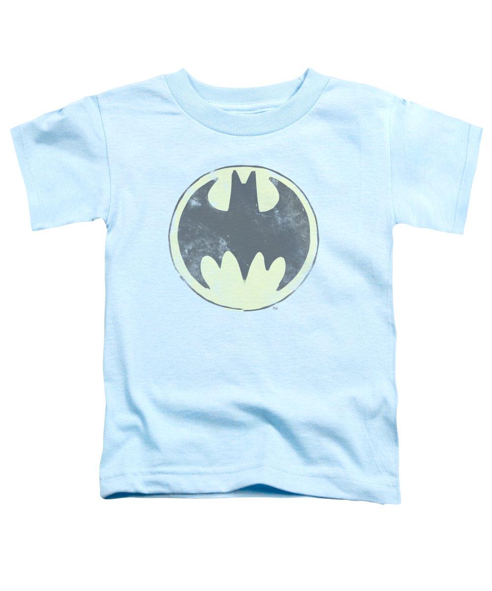 Batman Toddler T-Shirt featuring the digital art Batman - Old Time Logo by Brand A